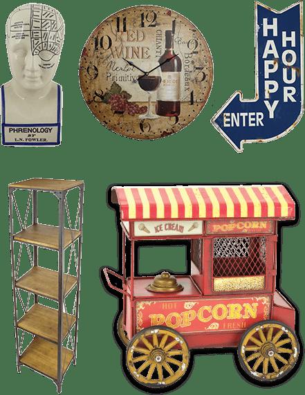Antique reproductions, vintage, home decor